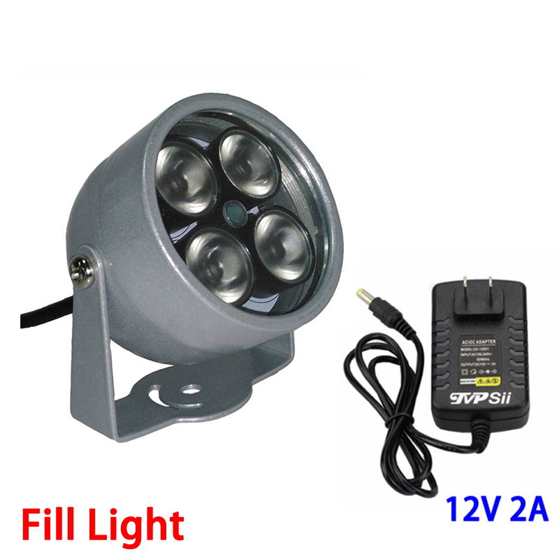 12V 2A Surveillance Camera Metal Outdoor Waterproof 4pcs Infrared Array led Fill Night Vsion illuminator Lamp Free Shipping цена