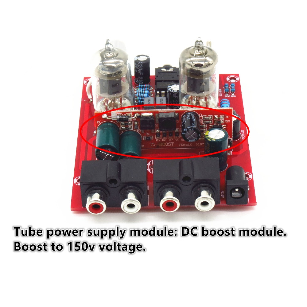 Yjhifi X 10d 6j1 Dc12v Tube Pre Amp Headphone Audio Amplifier How To Build Stereo Preamplifier With Bass Boost 1pcshifi Valve Board Diy Kits