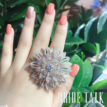 BRIDE TALK luxury brand Wedding ring Free shipping bride engagement bridal wear jewelry Global best seller
