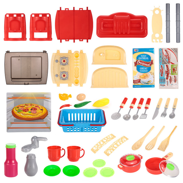 Kids Kitchen Toys Sink Basin Set Play House Tableware Table Kitchenware Cooking Tool Family Game Educational Equipment Baby