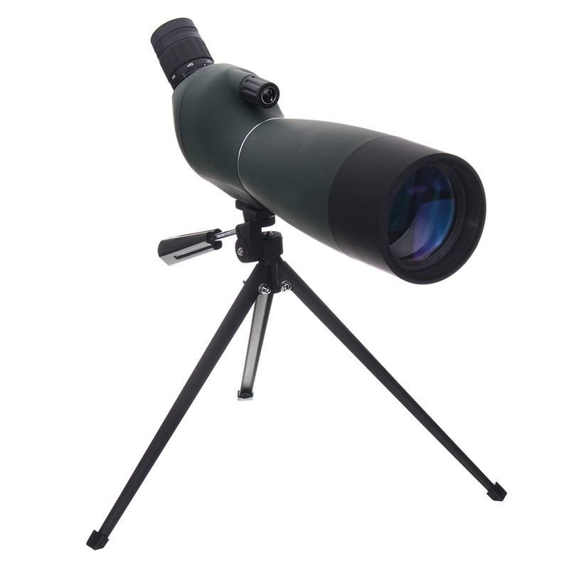 купить 25-75X70 Zoom Monocular Telescope BAK4 Objective Lens Spotting Scope Optics Waterproof Shock- proof Birdwatching with Tripod по цене 4674.15 рублей