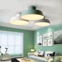 Nordic минималистский современный Лампы для мотоциклов Для Гостиная проход ресторан Креативный светодиодный Macarons круговой потолочный светил