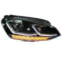 Поворотник сбоку сборки Cob автомобилей Drl Дневные бег Авто светодиодное освещение автомобиля фары для автомобиля задние фонари Volkswagen Гольф