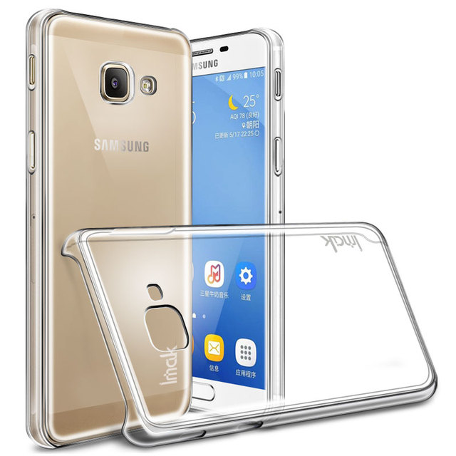 new style 13321 226bc US $4.73 5% OFF|For Samsung Galaxy J7 Max G615F Case Imak Hard Plastic  Phone Cases Crystal Protective phone shell Clear transparent Back Cover -in  ...