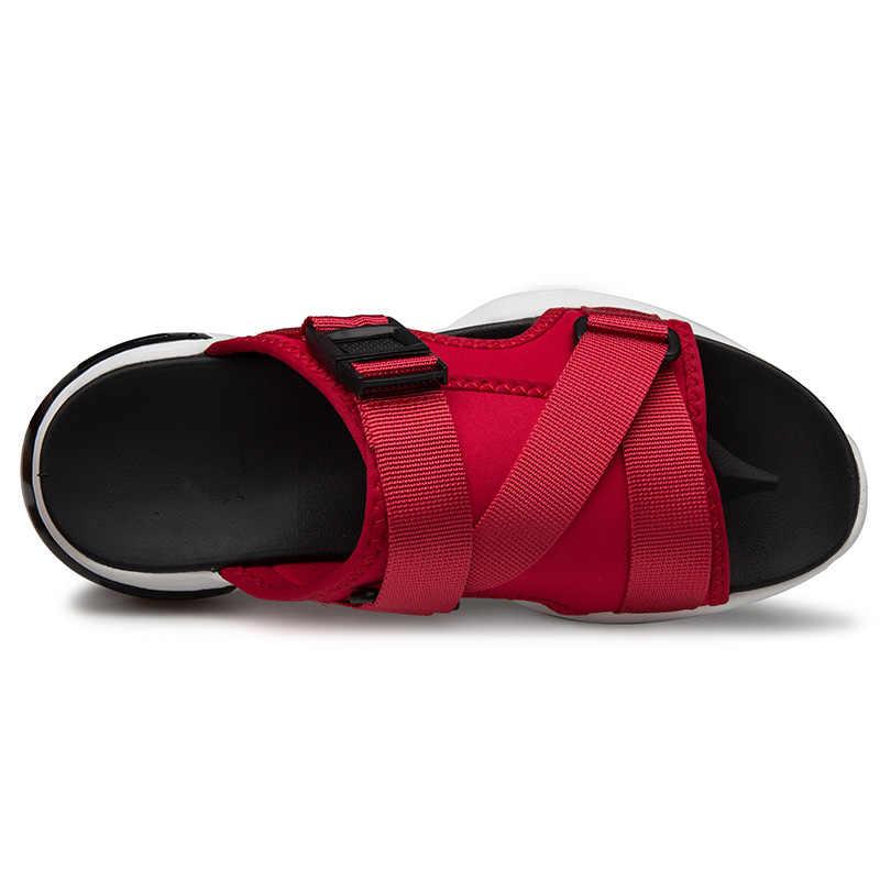 2019 летние мужские тапочки, новые модные дизайнерские Стрейчевые тканевые шлепанцы для мужчин, легкие мужские повседневные Тапочки