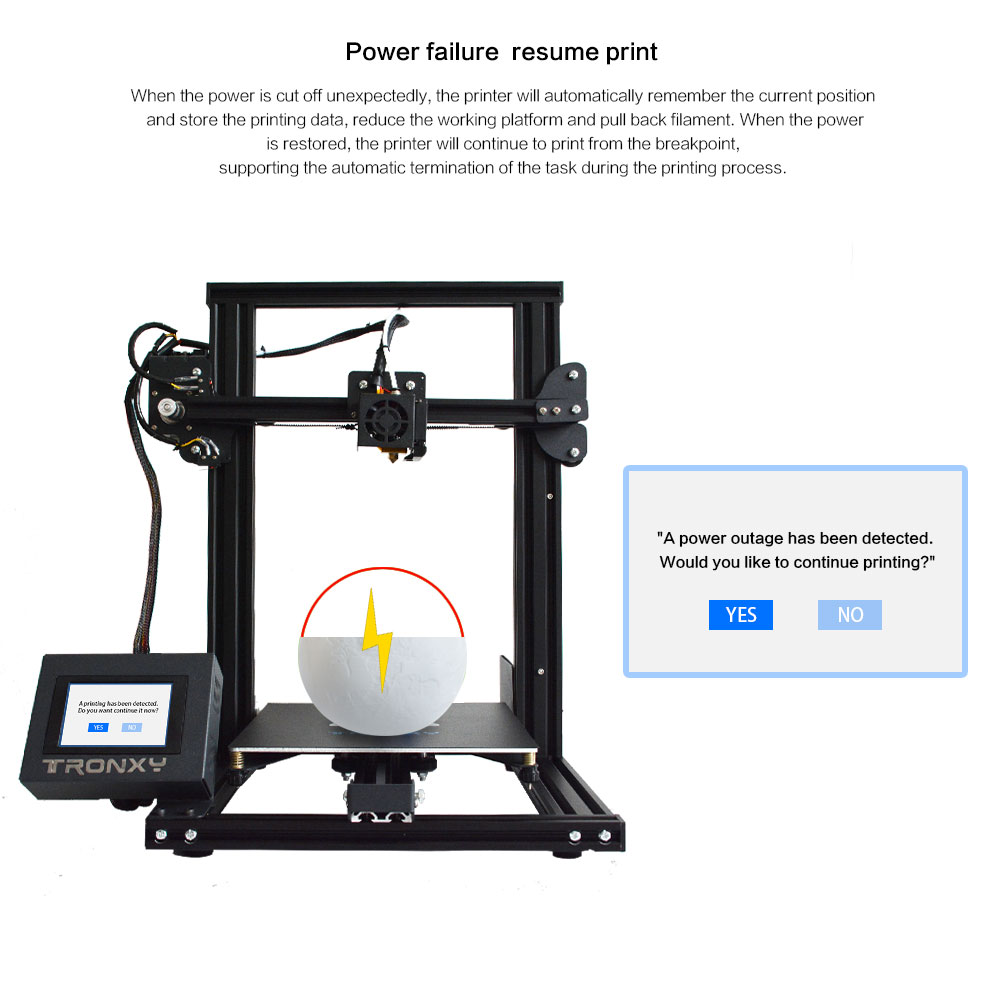 Image 4 - Tronxy XY 2 Fast Assembly Full metal 3D Printer 220*220*260mm High printing Magnetic Heat Paper 3.5 Inches Touch Screen-in 3D Printers from Computer & Office