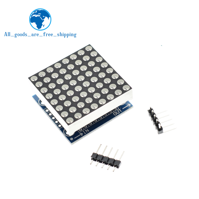 TZT MAX7219 modulo a matrice di punti modulo microcontrollore modulo di visualizzazione prodotti finiti per Arduino