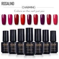 ROSALIND 7ML RED Color Series Color UV Builder Gel Nail Polish Acrylic for Nail Gel Polish Art False Tips Extension Gel Polish
