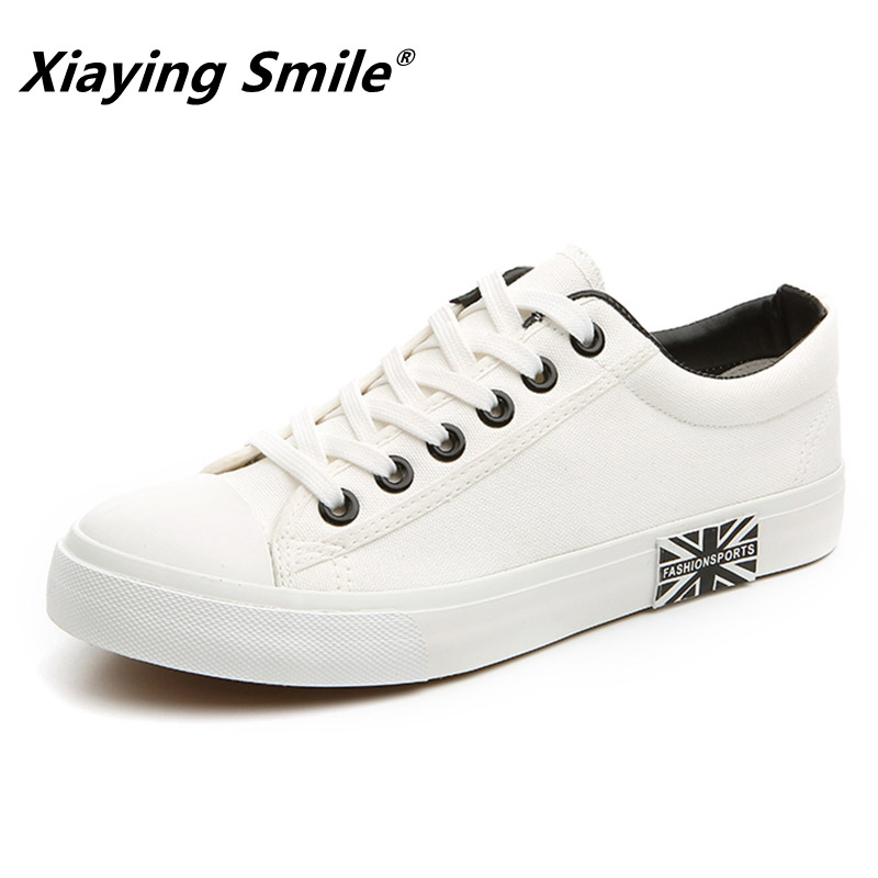 Image 2 - Flat Shoes Men Canvas White/Black Solid Sneakers Lightweight Breathable Foodwear New Fashion Casual Shoes Mens MaleMens Casual Shoes   -