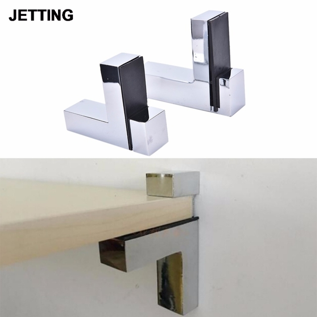 1PCS High Quality Adjustable Shelf Holder Bracket Glass Wood Shelves  Rectangle Rrop Glass Clamp