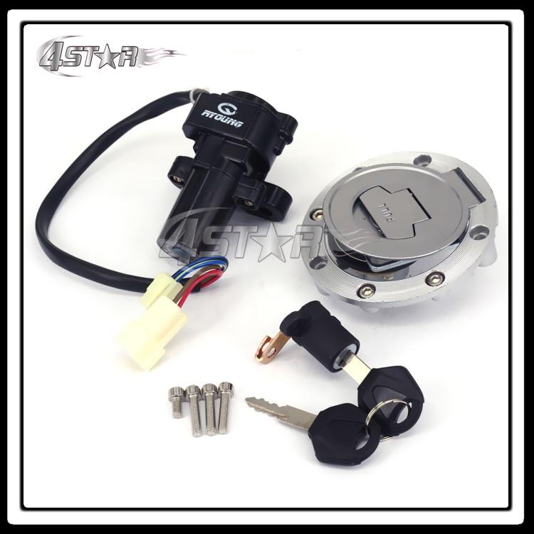 Motorcycle Lockset Ignition Key Switch Fuel Gas Cap Lock Keys For YZF R6 1999 2000 2001 2002 2003 2004 2005 Free Shipping