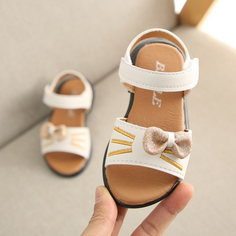 Baby Girl Summer Toddlers Shoes Children Baby Kids Girls Princess Shoes 1 Pair Non-Slip Canvas Bowknot Newborn Infantil Sandals