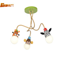HGhomeart cartoon dier Led moderne verlichting kroonluchters babykamer Hoogtepunt Led kroonluchter plafond kids 110 V 220 V kroonluchter