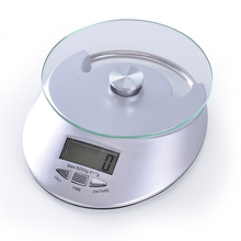 5KG Kitchen Household LCD Screen Scales Medicinal Scales Glass Electronic Scales Food Weighing Tool