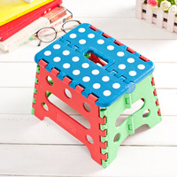 RongYi Random Portable Plastic Folding Stool Spotted Ottoman For Outdoors Sit Study Dinner Supper Children Stool