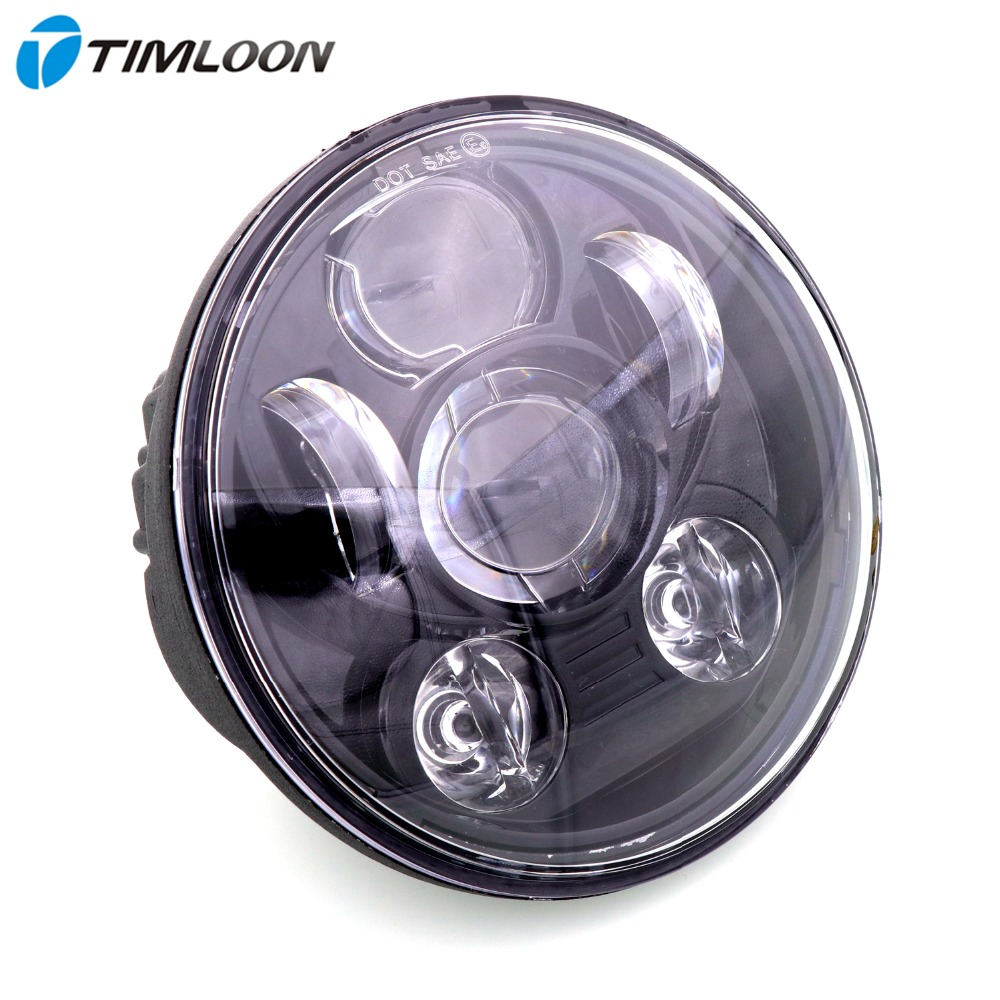 5-3/4 inch Round LED Projection Daymaker Headlight Use for Harley Motorcycle Headlamp Projector Driving Light