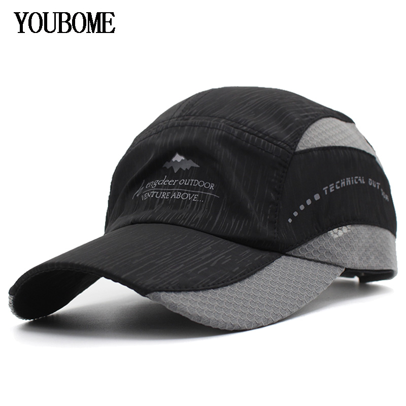 YOUBOME Men Baseball Cap Brand Snapback Caps Women Quick-drying Hats For Men Summer Casual Casquette Bone Female Dad Cap Hat