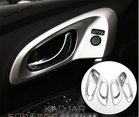 Interior For Renault Kadjar 2016 ABS High Quality Inner Door Handle Bowl Cover Trim 4 Pcs