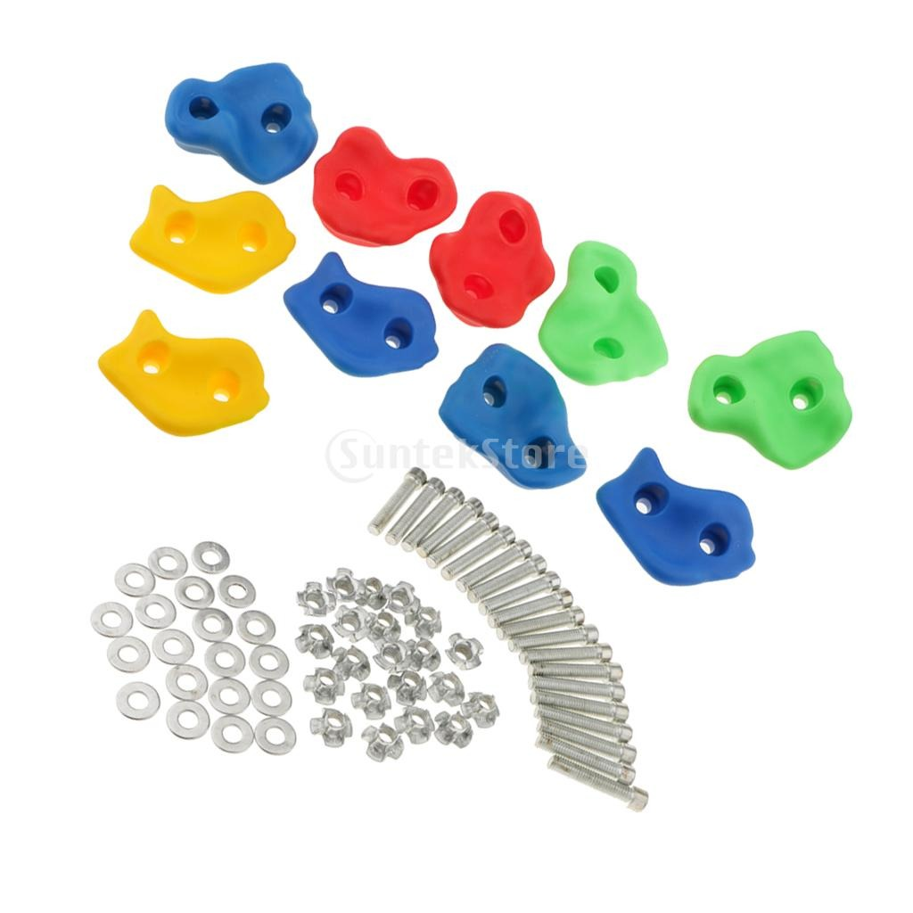 15 Pcs 12cm Big Size Plastic Children Kids Rock Climbing Wood Wall Stones Hand Feet Holds Grip Kits Without Screw Random Color Elegant And Sturdy Package Toys & Hobbies