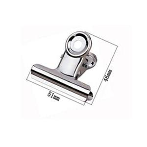 Image 1 - Ücretsiz Kargo (36 adet/grup) 51mm yuvarlak üst Kavrama Klipler Bulldog klip paslanmaz çelik kağıt klip Ofis tedarik metal fatura klip