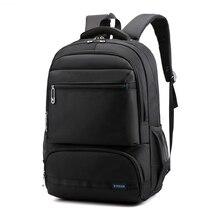 Одноцветный нейлоновый мужской рюкзак, высококачественный рюкзак для путешествий, Большой Вместительный рюкзак для ноутбука, мужской рюкзак на плечо Mochilas