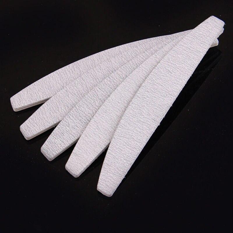 10 Pcs Nail File 100/100 Professional Nail Files Grey Boat Sanding Buffer Block Pedicure Manicure Buffing Polish Beauty Tools