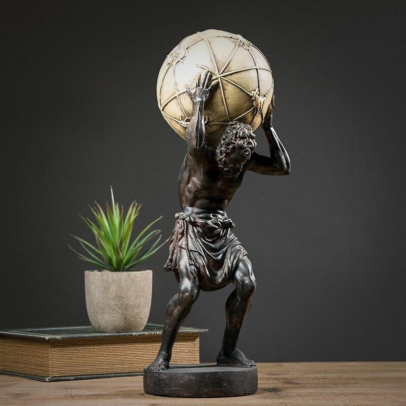 Moderne mythologie nordique Sculpture résine corps Figure héros Statue maison bureau décoration accessoires artisanat Figurine décor