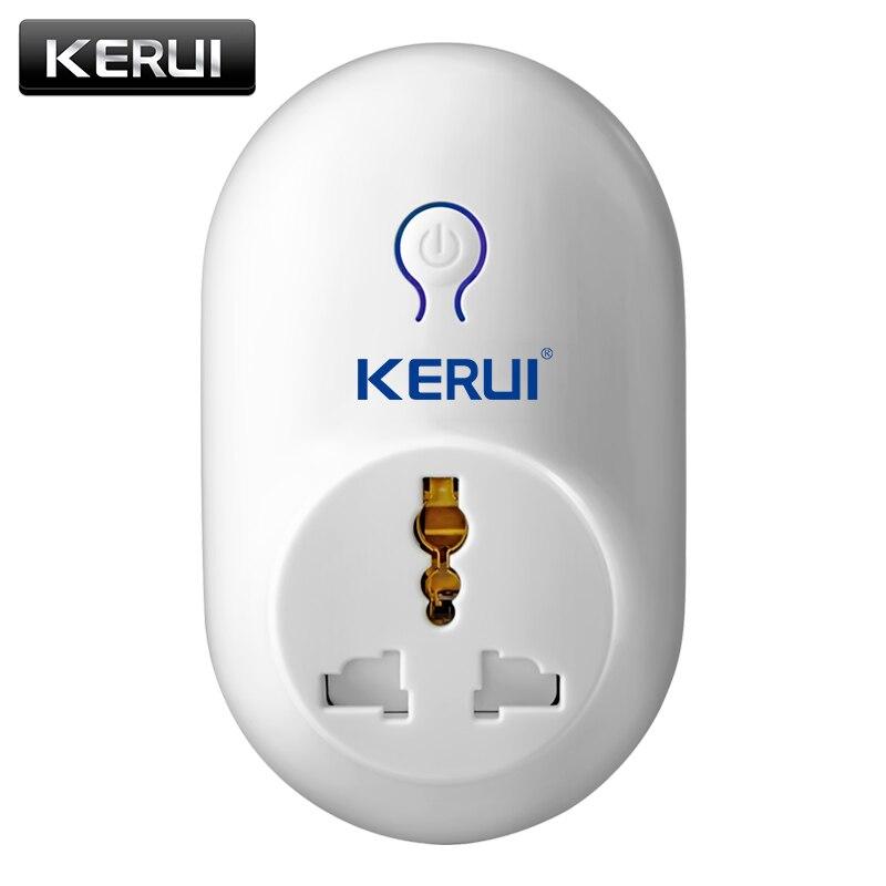 Accesorios de alarma KERUI interruptor remoto inalámbrico enchufe de Alimentación inteligente 433 MHz automatización del hogar para teléfonos Android iPhone nuevo