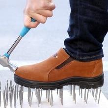 Мужская защитная обувь со стальным носком, защитная обувь, сварочный башмак, противоударные рабочие кроссовки для мужчин