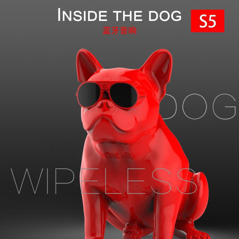 Wireless Speaker Bulldog Bluetooth Speaker Portable HIFI Wireless Stereo Loudspeakers Super Bass Sound Box Handsfree for Phone kr8800 portable bluetooth v3 0 led speaker wireless nfc fm hifi stereo loudspeakers super bass caixa se som sound box for phone