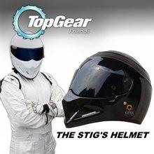 For TopGear The STIG Helmet / TG Collectable / as SIMPSON Pig / Motorcycle Helmet / Black Stig's Black Helmet with Black Visor