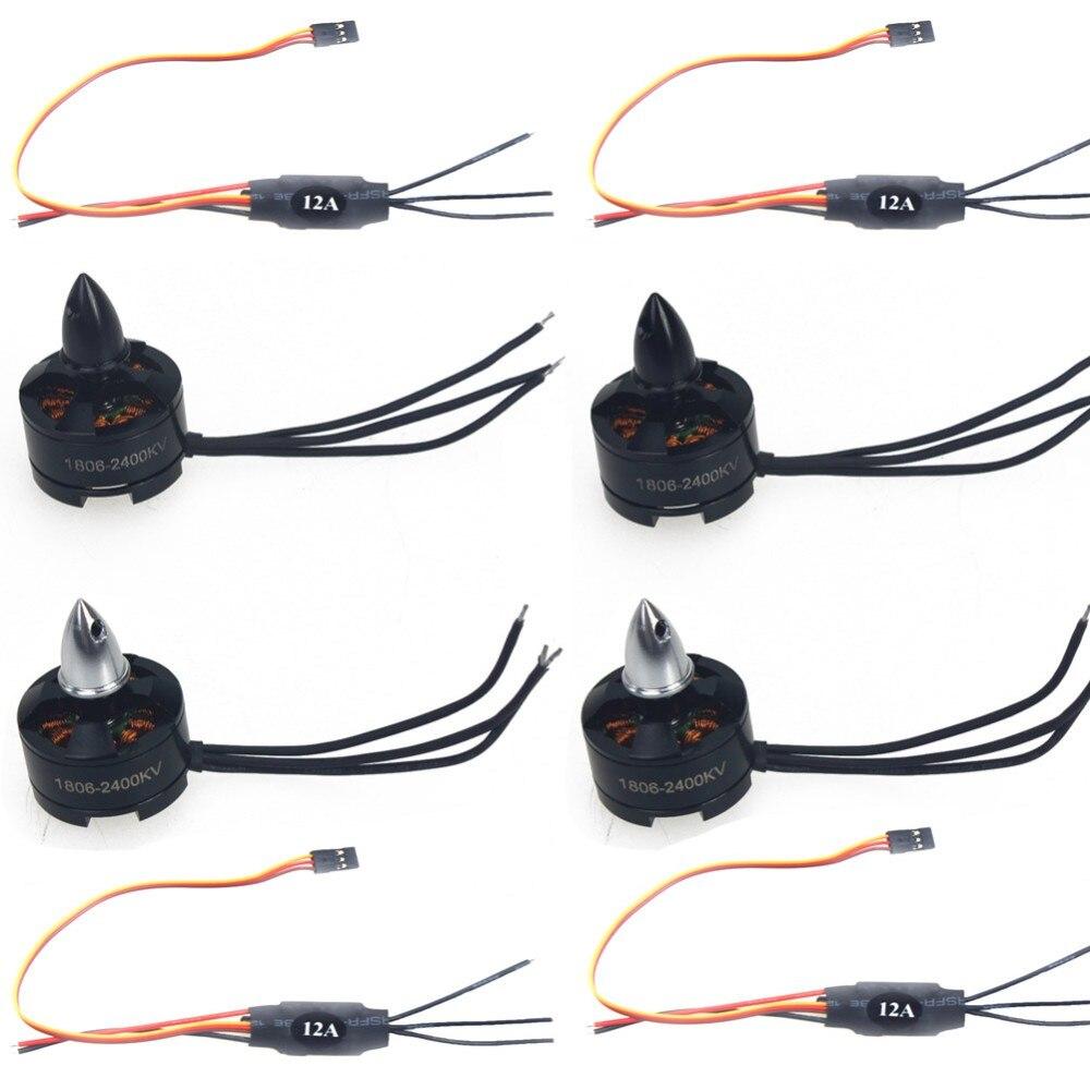 1806 2400KV Motor + Simonk 12A 2-3 s ESC para QAV250 FPV KK 260 RC Drone F10819-C