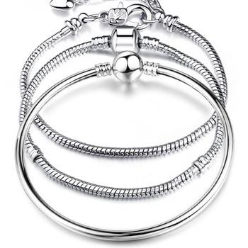 Silver Snake Chain Link Bracelet