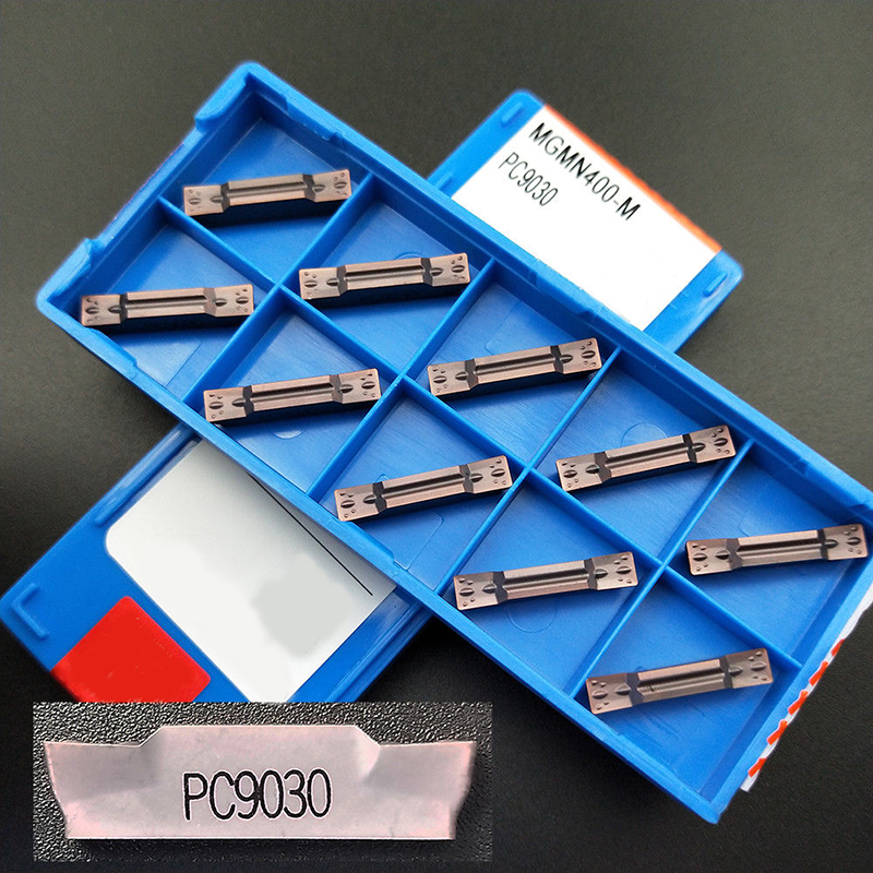 100pcs MGMN400-M PC9030 4.0mm Wide CNC Cutting Lathe Blade Carbide Double-head Insert Used For Steel Iron