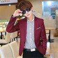Juego de los hombres 2016 de primavera y otoño nuevos hombres ocasionales Adelgazan la chaqueta pequeño traje de Corea adolescentes