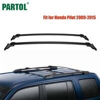 Partol 2Pcs Set Black Car Roof Rack Cross Bars Crossbars 45kg 100LBS Cargo Luggage Carrier Top