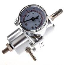 Универсальный автомобильный Регулируемый регулятор давления топлива с манометром серебро