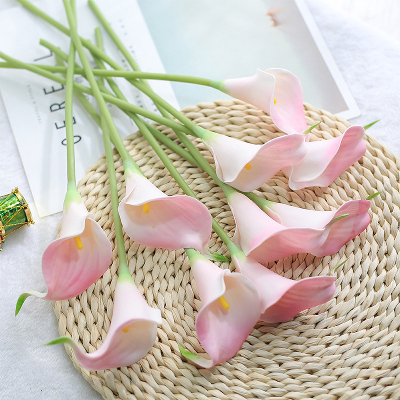 CHENCHENG 10 Pieces/Lot PU Artificial Flowers Calla Lily Bunch For Table Home Wedding Decoration 3