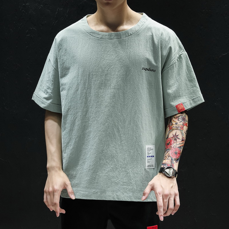 2019 été décontracté T-Shirt hommes coton demi manches Homme T-Shirt col rond manches courtes hommes T-Shirt Homme