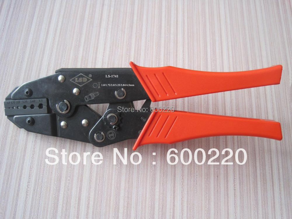 LS-1741 coaxial crimping tool for coax BNC,fiber optic cable connectors RG174,RG179 142 0701 841[rf connectors coaxial connectors pc end mt jc mr li