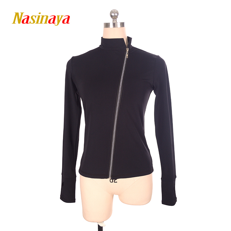 Customized Figure Skating Jacket Zippered Tops for Girl Women Training Competition Patinaje Ice Skating Warm Fleece