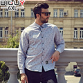 100% Cotton High Quality Mens Casual Shirt Long Sleeve 2016 Autumn Camisa Floral Masculina Men Shirt Plus Size 1113shirt