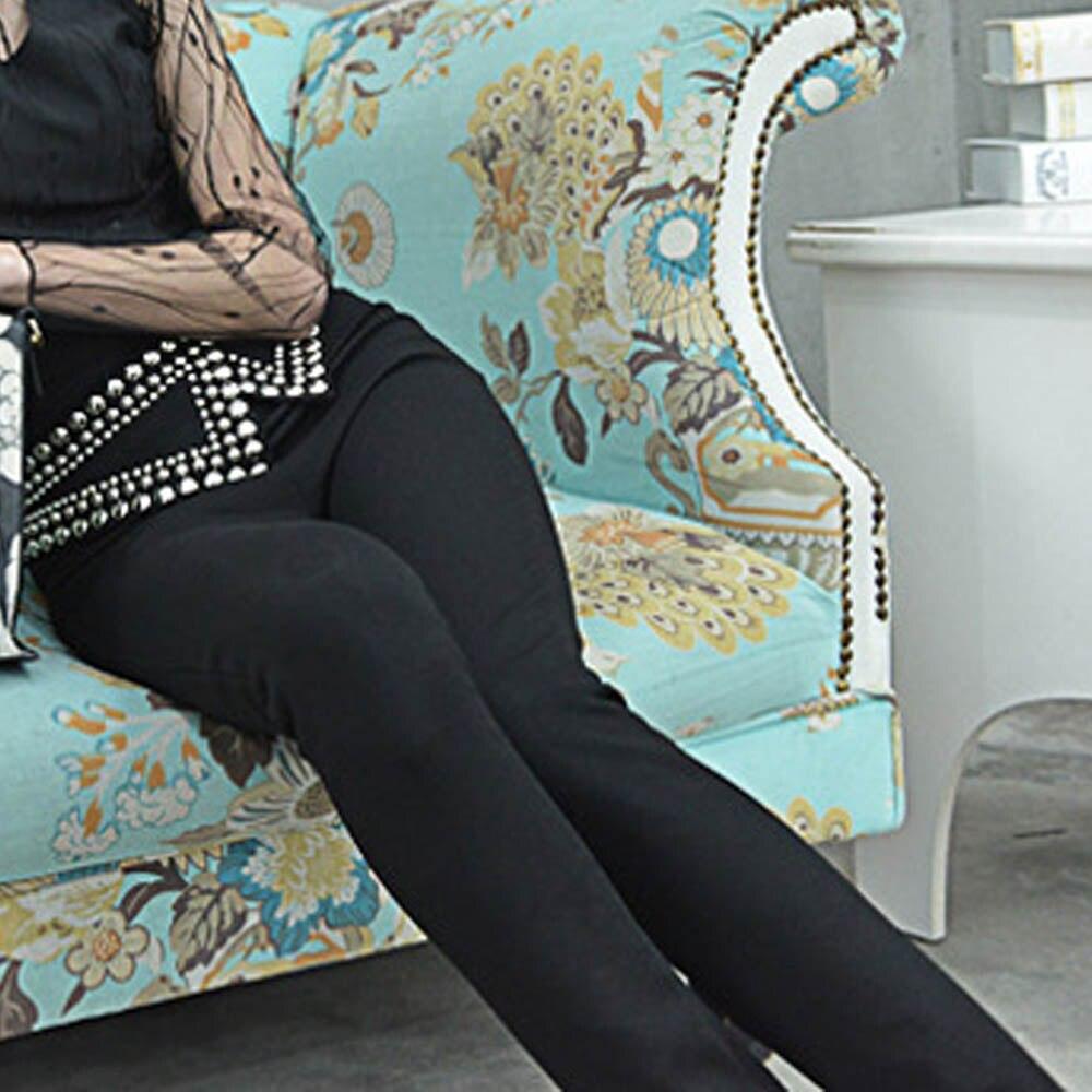 Lujo Invierno De Decoración 2019 Señora Sy1830 Mujeres Moda Del Elástico Lápiz fósforo Todo Remaches Las Otoño Pantalones Black Diseñador C8qgw0xq