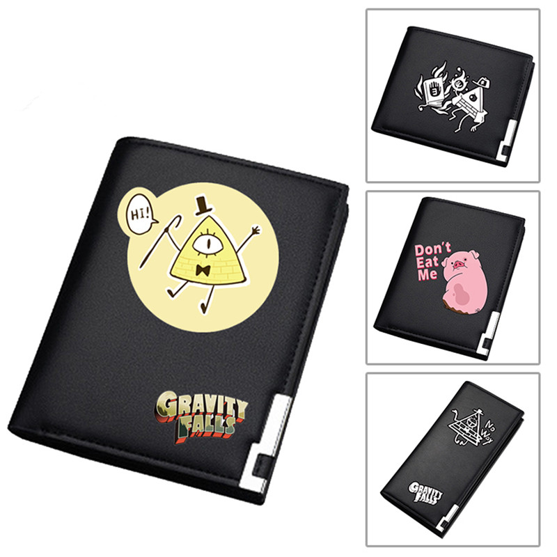 Gravity Falls Kawaii Waddles Women Long  Purse Pu Leather Wallet Cartoon Student ID Card Holder Bill Cipher Money Notecase