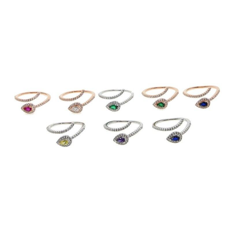 Najwyższej Jakości Prosty Styl Serce Do Serca Pierścień Różowe Złoto Kolor Moda Biżuteria Zyr215 R252