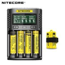100% Dorigine Nitecore UM4 UM2 USB QC chargeur de batterie Intelligent Circuit Mondial Dassurance li ion AA AAA 18650 21700 26650