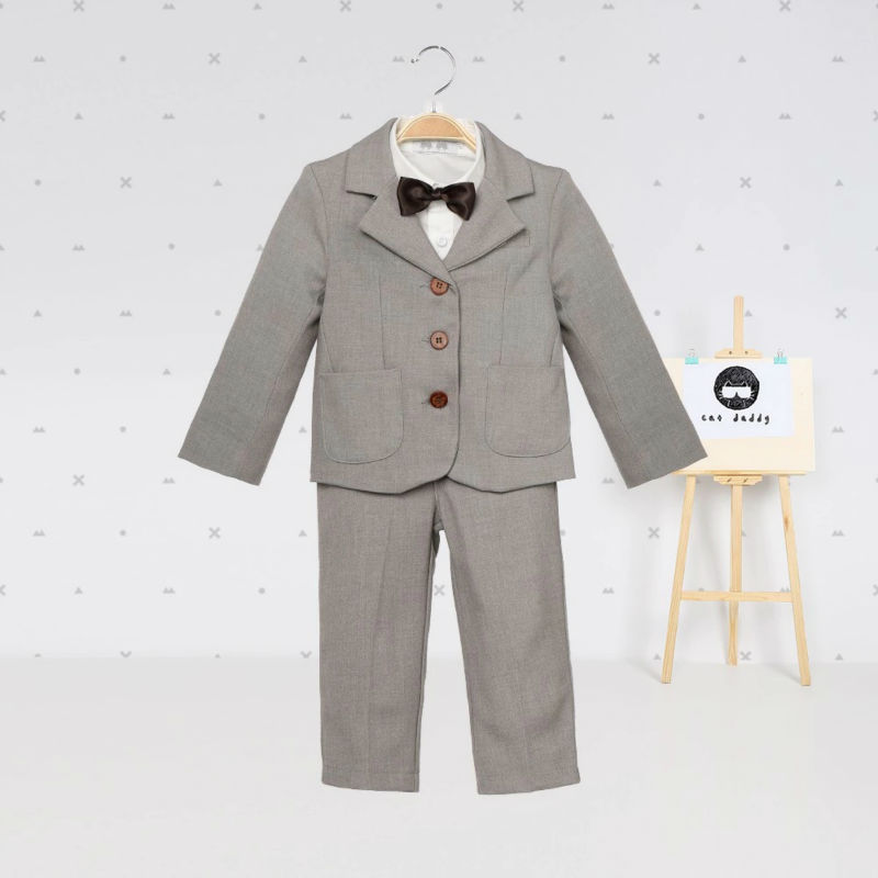 Baby boy clothes blazers gentleman suit infant tuexdo terno formal clothing set coat shirt vest pants wedding children costume 2017 baby boys clothing set gentleman boy clothes toddler summer casual children infant t shirt pants 2pcs boy suit kids clothes