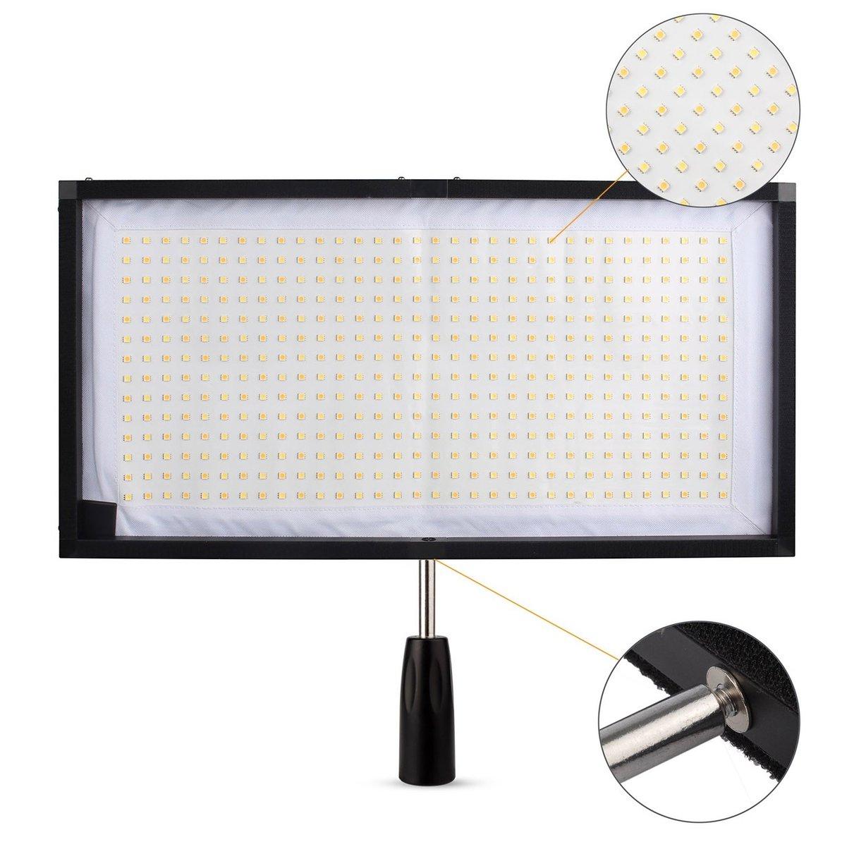 Travor FL 3060 Flex Mat 5500K 480 LED Flexible Moldable LED Video Light for Camera Video + 2.4G Remote