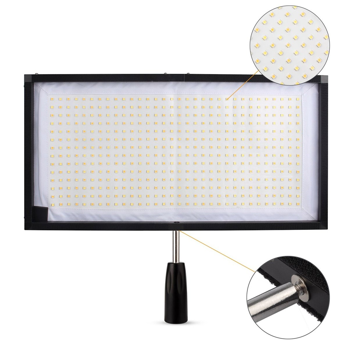 US $229 0 |Travor FL 3060 Flex Mat 5500K 480 LED Flexible Moldable LED  Video Light for Camera Video + 2 4G Remote-in Photo Studio Accessories from