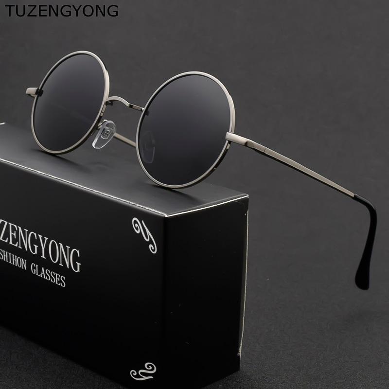 Classic Steampunk Round Sunglasses Men Women Anti-UV Polarized Metal Frame Brand Designer Retro Sun Glasses Mirror UV400 Oculos